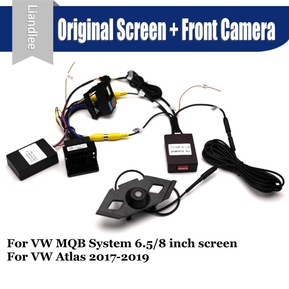 Cámara de visión delantera para coche para Volkswagen VW Atlas/Teramont 2017-2019 2020 sistema de aparcamiento CANBUS pantalla Original cámara trasera de marcha atrás