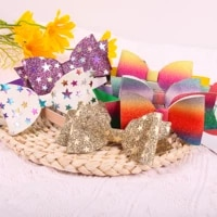 glitter hair bows for girls teeth plastic headbands shiny hair hoop for party hairband children bows hair accessories