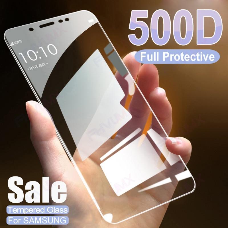 500D protectora completa de cristal para Samsung Galaxy J4 J6 más j2...