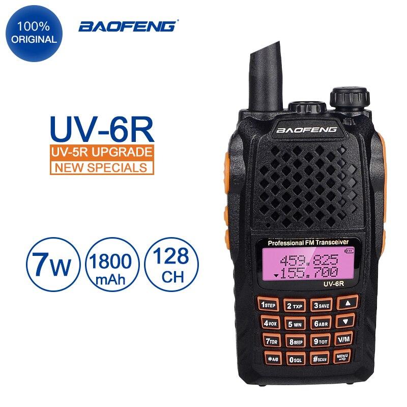 Baofeng UV-6R Walkie Talkie 10 km 7W UHF VHF Dual Band UV 6R FM Radio VOX Alarm Ham Hf transceiver PTT UV6R