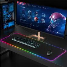 Tapis de souris lumineux de jeu rvb bord clavier tapis anti-dérapant clavier USB Hub pour le bureau à domicile
