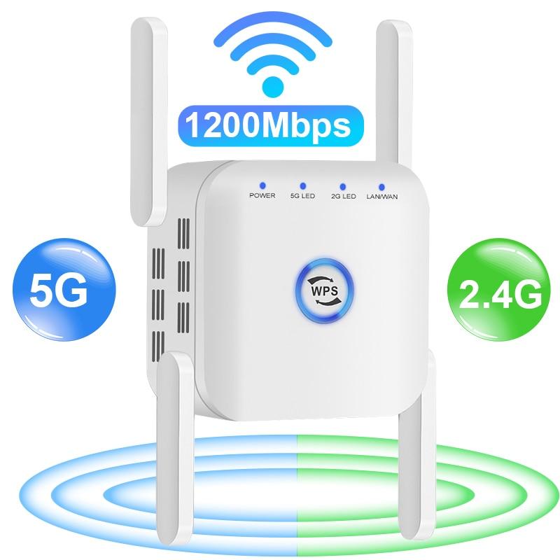 5g Wi-fi беспроводной маршрутизатор Ретранслятор сигнала Wi-fi усилитель WiFi удлинитель 1200 Мбит/с Wi fi усилитель 2,4G Wi-fi 5 ГГц с большим радиусом Бесп...