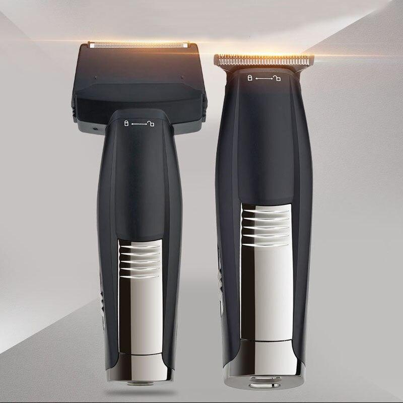 Nikai 2 en 1 de pelo set USB pelo recargable clipper máquina de afeitar eléctrica de afeitar de pelo de la máquina