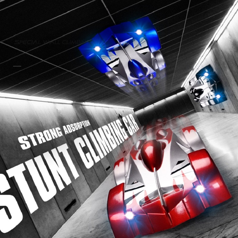 RC Car Wall Climbing Remote Control With LED Lights 360 Degree Rotating Stunt Toys Antigravity Gift