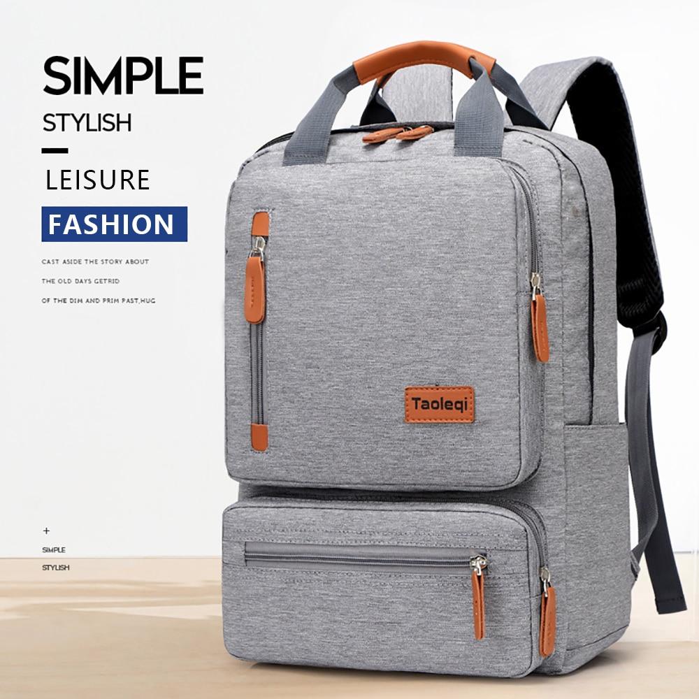 IKE MARTI Casual Men Laptop Backpack 15.6 Inch 2020 New Waterproof Girl Gray Anti-Theft Woman Junior High School Bag Backpacks