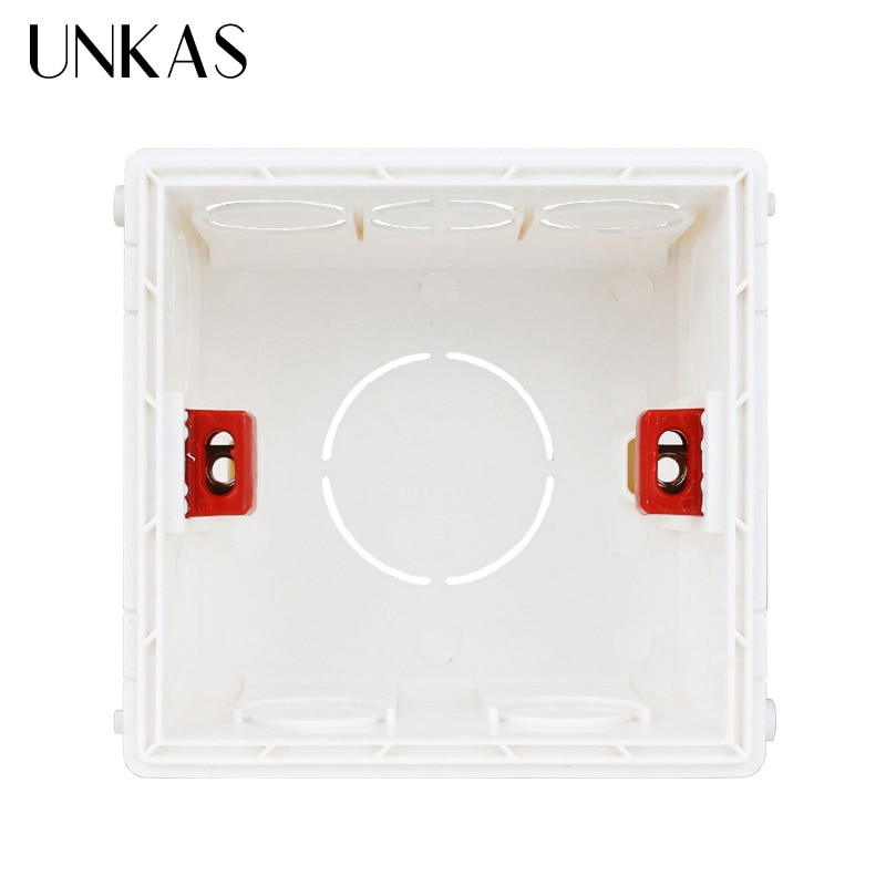 AliExpress - UNKAS New Desigh PVC Plastic Adjustable Mounting Box Internal Cassette 86*83*50 For 86 Type Switch and Socket