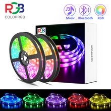 luci natale LED, RGB 5050/SMD2835, nastro flessibile, striscia luminosa a Led fai-da-te RGB Tape Diode DC 12V Phone app bluetooth