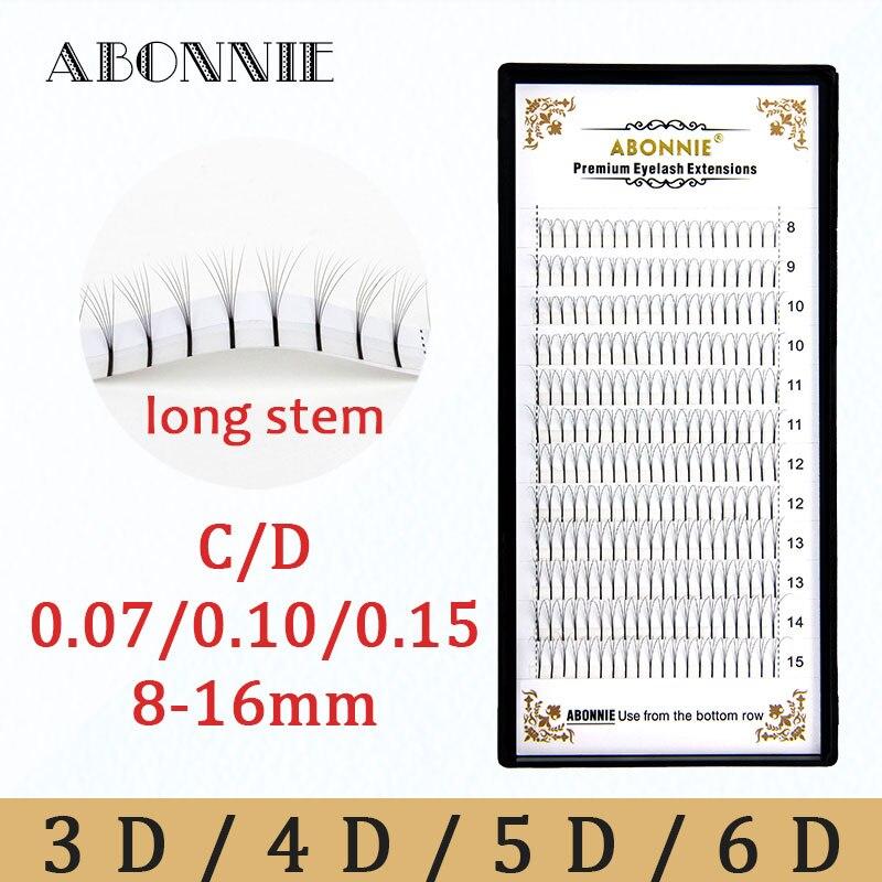 Abonnie Premade volumen Fans 3d/4d/5d/6d Lash ruso extensiones de pestañas con volumen Pre hecho extensiones de pestañas de visón