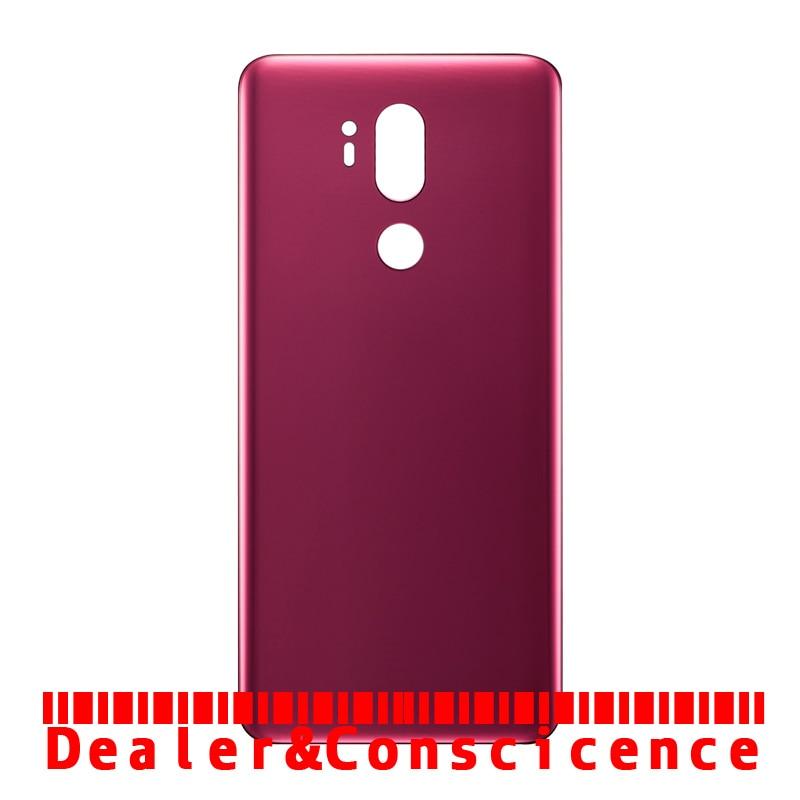 10PCS (Verificado) para LG G7 ThinQ G710 G710EM G710VMP G710EAW G710AWM G710N de Volta caixa de Vidro Tampa Traseira Da Bateria Caso Porta + Cola