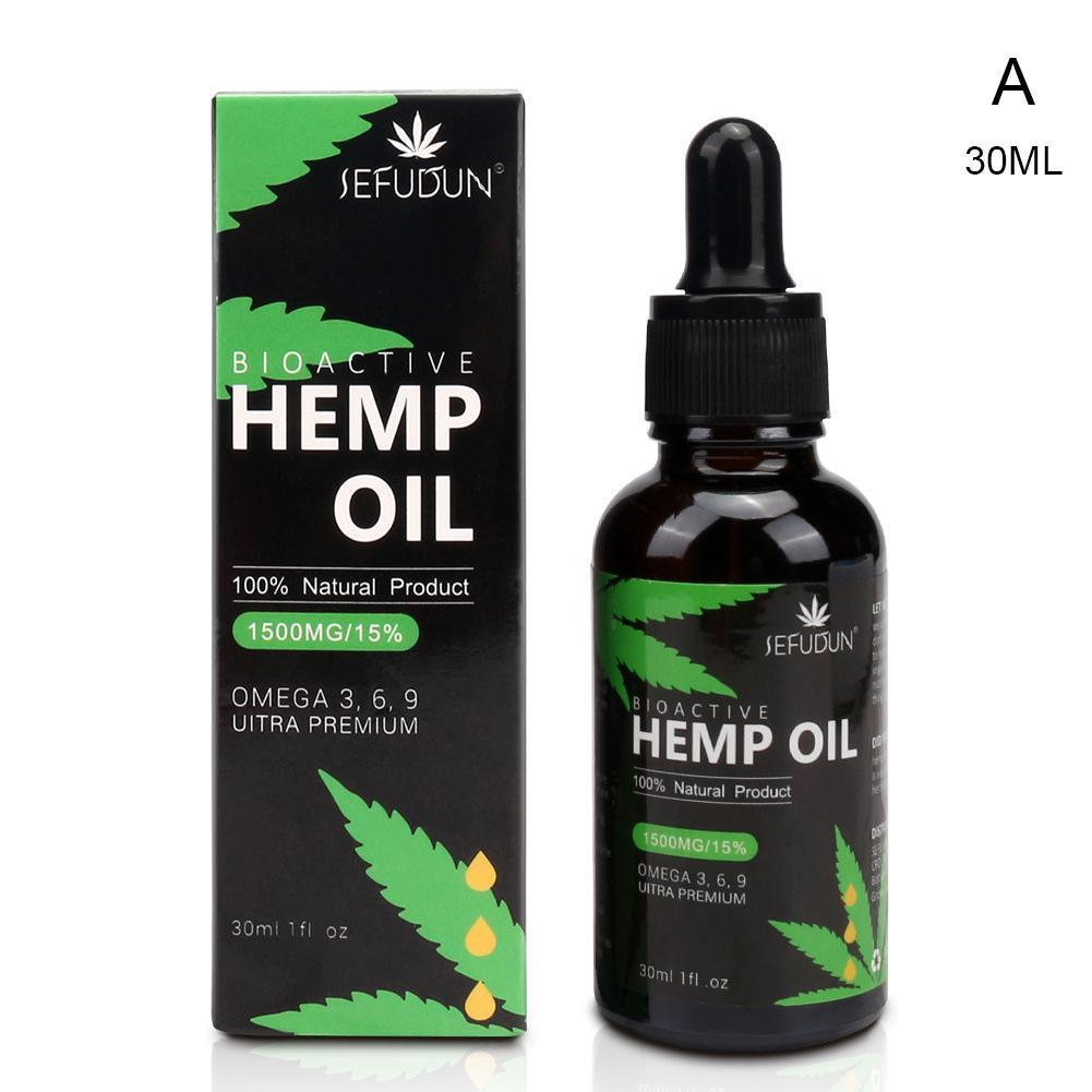 5000mg 30ML PURE Hemp Essential Oil Drop to wake body and anti-anxiety reduce pressure more concentration feels like full energy