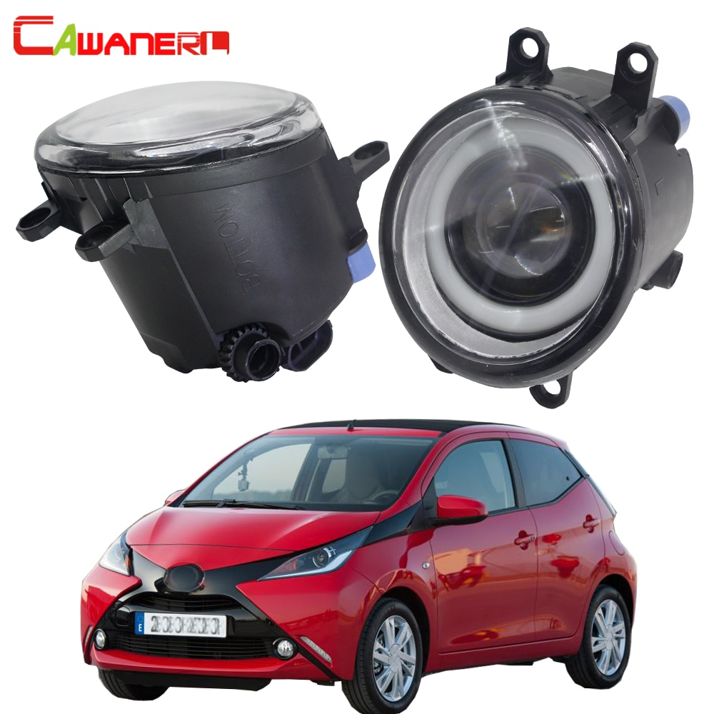 Cawanerl para Toyota Aygo (_ B4 _) 2014 2015 2016 2017 2018 luz antiniebla LED de coche Angel Eye DRL luz diurna H11 12V 2 piezas