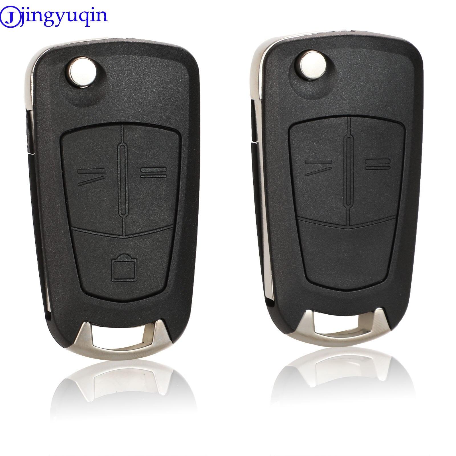 Mando a distancia jingyuqin, 10p, 2/3 botones, carcasa para coche, carcasa, Fob para Opel Vectra Antigo Omega Suprema Agile Montana