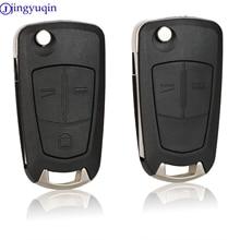 Jingyuqin 10p 2/3 кнопки дистанционного флип-ключа оболочки автомобиля чехол Fob для Opel Vectra Antigo Omega Suprema Agile Монтана
