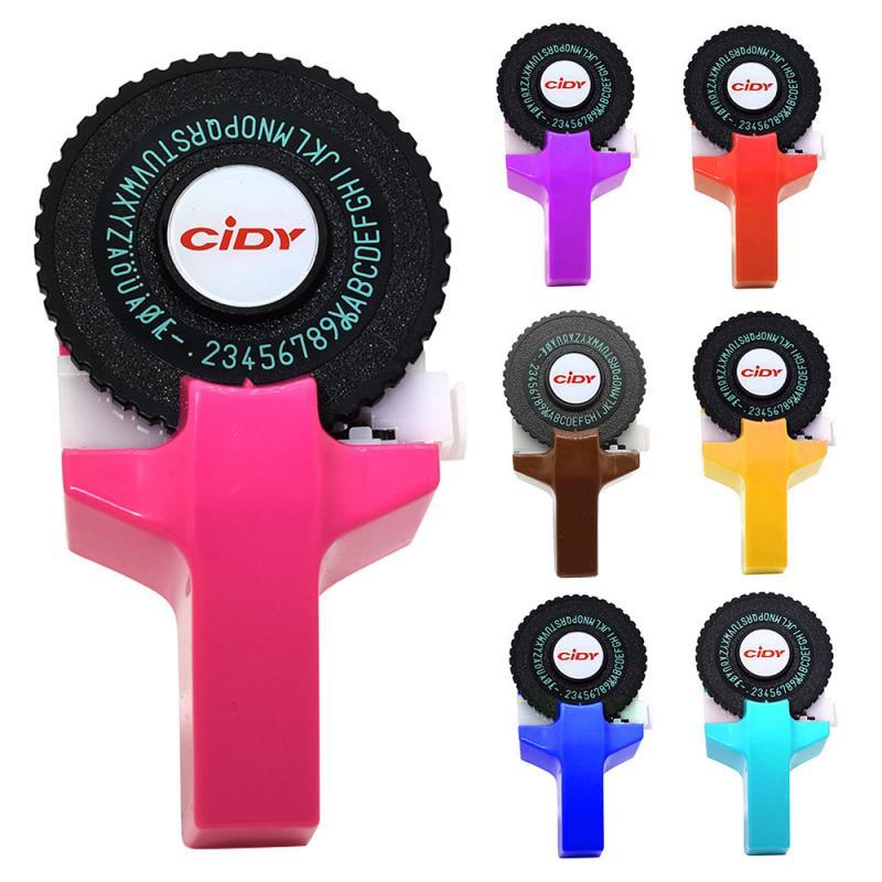 BATEAU RAPIDE! Hidi C101 imprimante Mini bricolage main Compatible pour Dymo 3D gaufrage manuel ruban manuel Machine à écrire lettrage