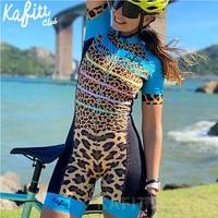 kafitt club pro team triathlon cycling jersey set female one piece jumpsuit short sleeve monkey set female gel pad