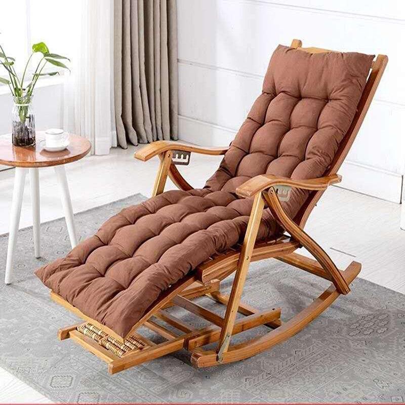 كرسي هزاز من الخيزران مع مسند ظهر قابل للطي ، كرسي استرخاء ، للشرفة ، الترفيه ، أثاث المنزل ، كرسي التدليك لكبار السن