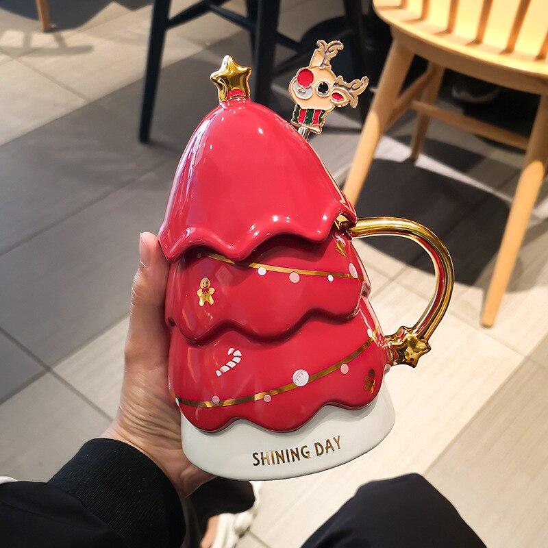 Christmas mug creative mug coffee cup drinking cup ceramic cups