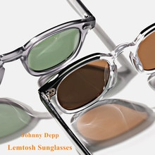 Johnny Depp LEMTOSH Sunglasses Men Polarized Vintage Round Imported Acetate Sun Glasses Women Prescr