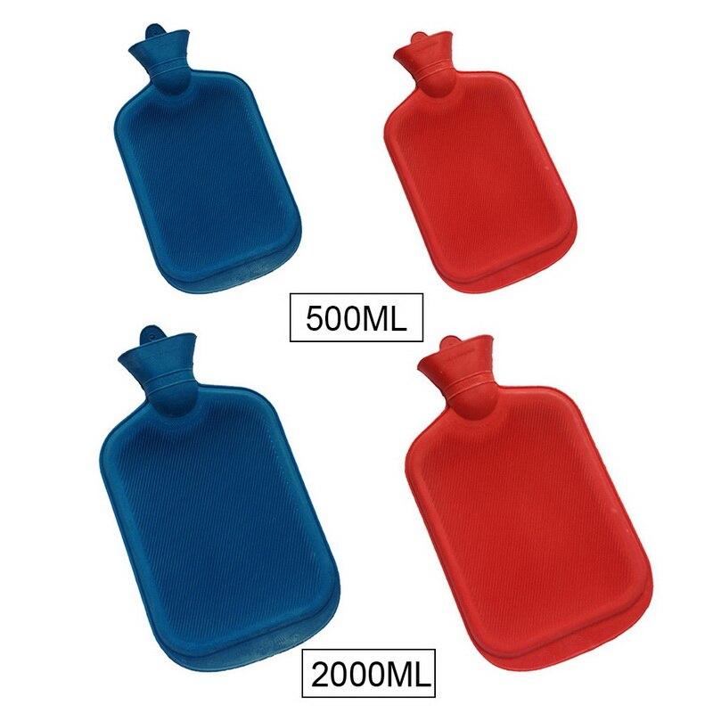 Bolsa de agua caliente de goma clásica de 2000/250ML, botella de agua caliente, bolsa de mano para calentar en invierno, calentador de manos para niñas, bolsa de mano caliente