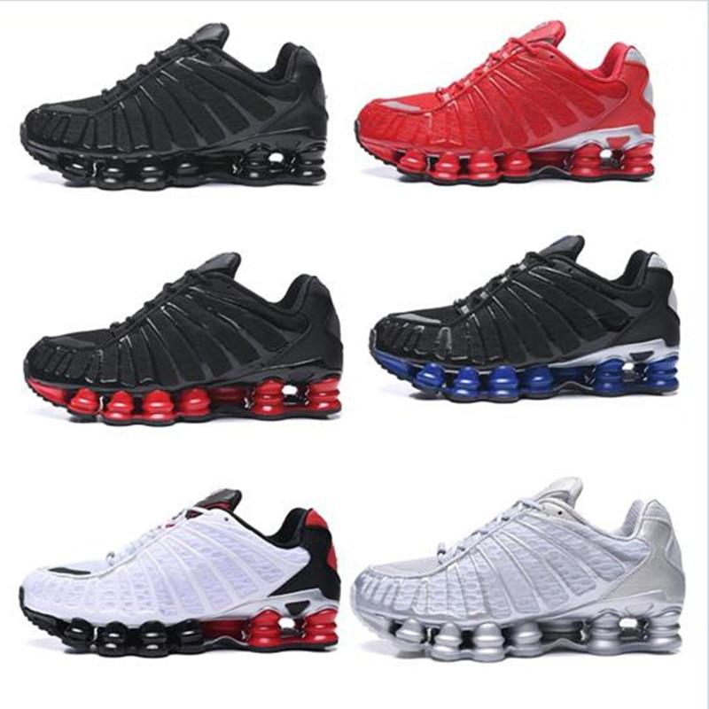¡Novedad! Zapatillas para correr SHOX TL Para hombre de arcilla naranja, Triple negro, azul, metálico, plata, Amanecer, Universidad R4, zapatillas rojas y blancas, 2020 AIRTN