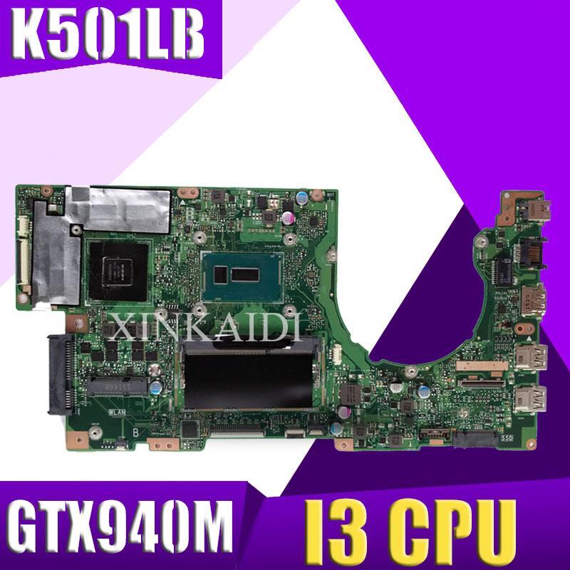 K501LX اللوحة GTX940M I3 CPU ل ASUS K501LB A501L K501L V505L اللوحة المحمول REV:2.0 K501LX اللوحة
