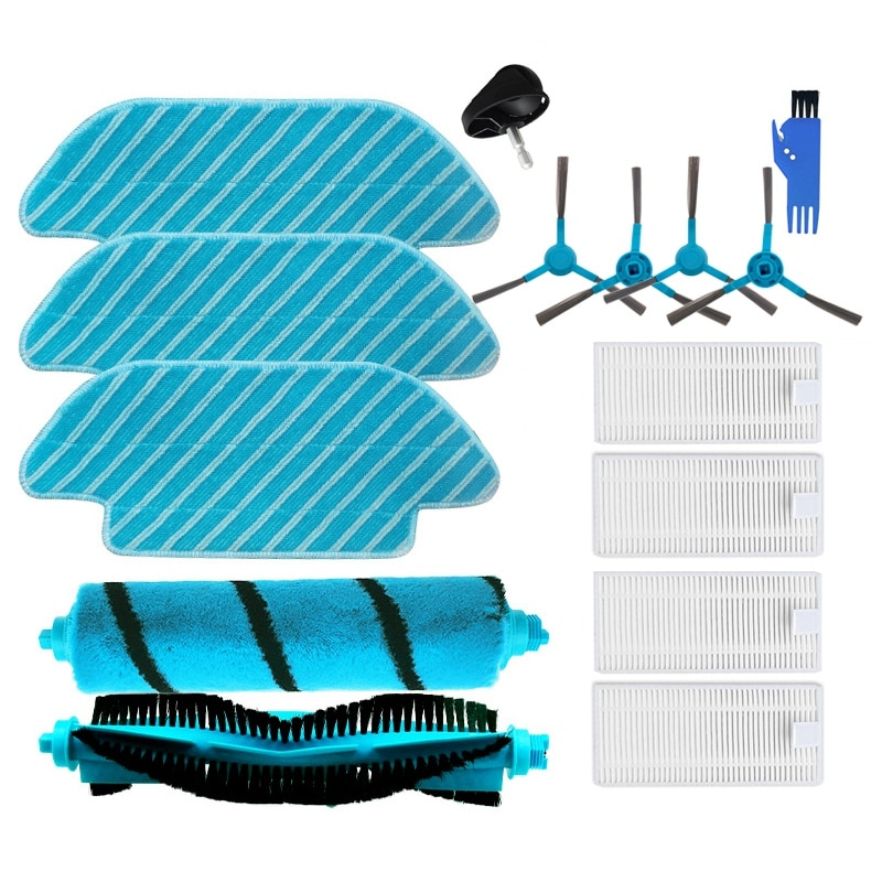TOP!-HEPA Filter for Cecotec Conga 4090 5090 Robot Vacuum Cleaner Main Roller Brush Side Brushes Mops Cloth Rags Kit