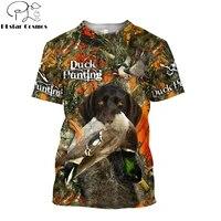 summer cool hipster men t shirt animal duckdeerhunting 3d printed harajuku short sleeve t shirt unisex casual tops tx0197