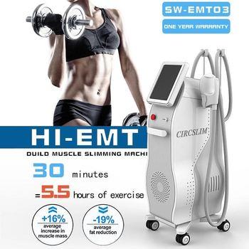 Non-invasive HI-EMT Body Sculpture Technology EMSlim Fat Burning Muscle Stimulation EMS Sculpting Beauty Machine