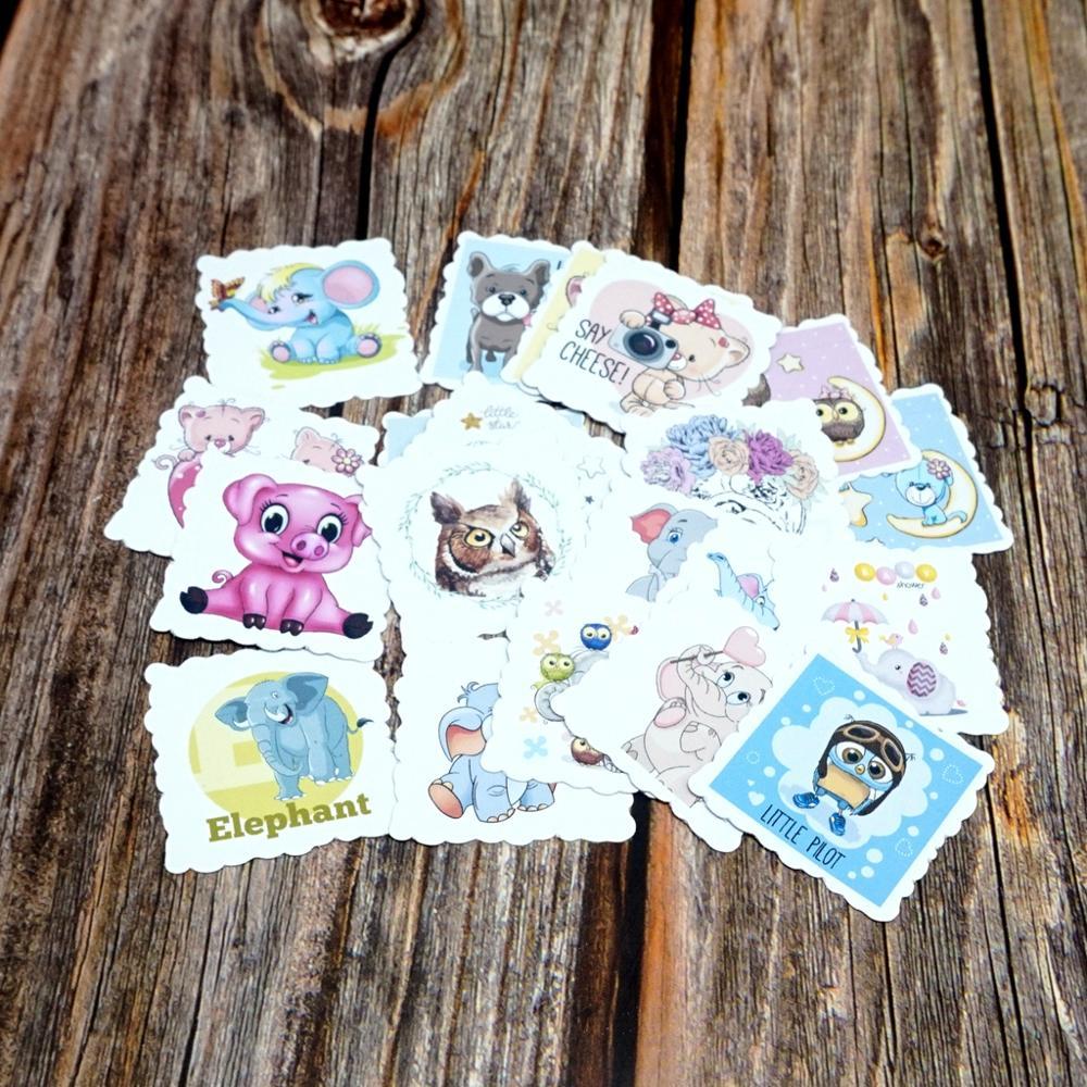 22PCS Cartoon Wasserdicht Aufkleber DIY Tagebuch Nette Tiere Aufkleber Laptop Handys Gitarren Kinder Kinder Mädchen Geschenk Aufkleber Spielzeug