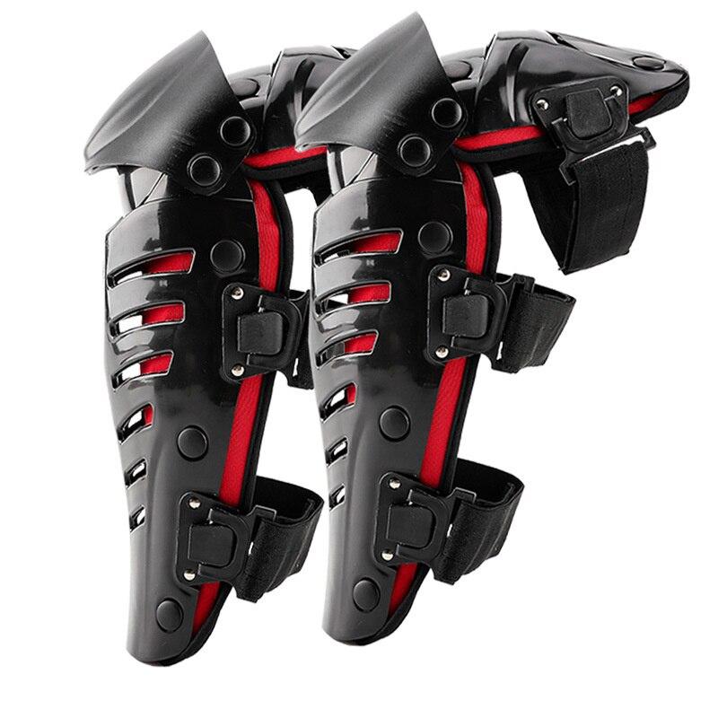 Ginocchiere ignifughe Set di attrezzi per motociclisti uomo Moto proteggi cuscinetti regolabili per bici ginocchiera armatura Off-road MTB DH Guards