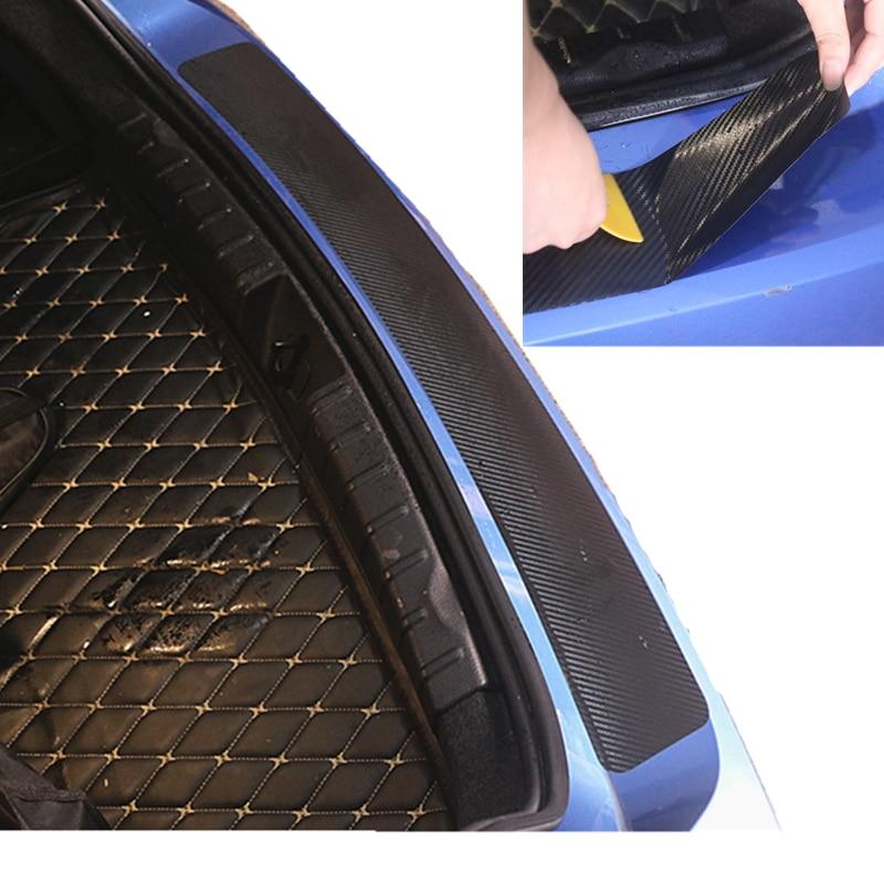 De fibra de carbono maletero de coche pegatina para parachoques trasero para BMW F20 F21 F31 G31 F11 E61 E60 X1 F48 X2 F39 X3 G01 F25 E83
