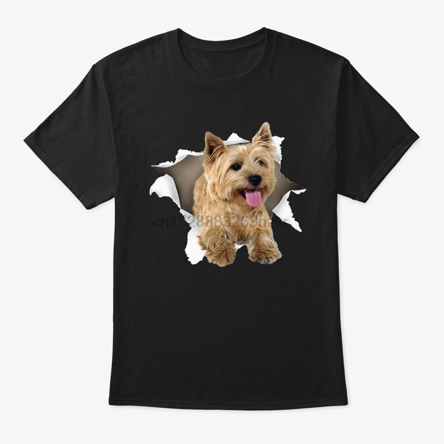 Camisa de t camisa masculina cairn terrier rasgado t camisa feminina