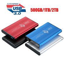 Aluminium gehäuse 500 GB/1 TB/2 TB 2,5 zoll USB 3.0 SATA Externe HDD Mobile Festplatte für PC tablet/laptop/desktop