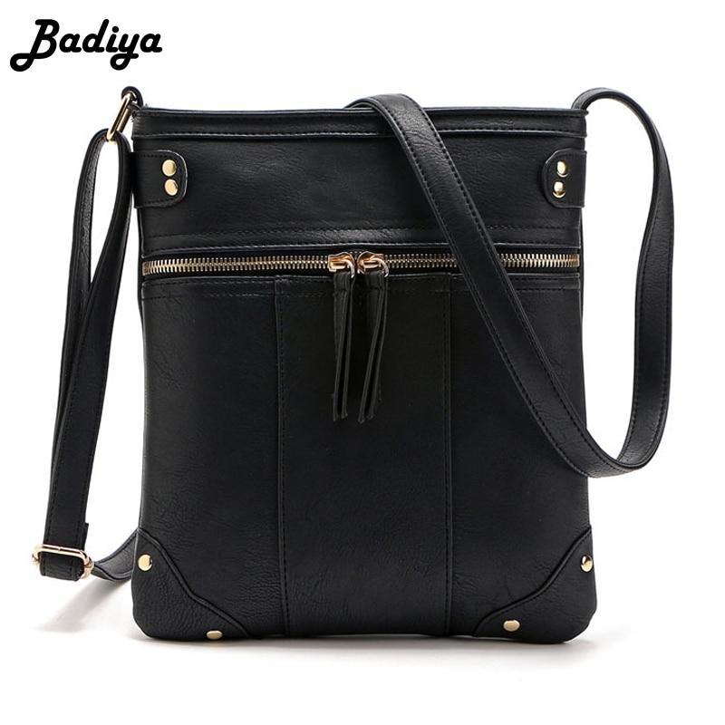 Designers Women Messenger Bags Female Crossbody Bag PU Leather Crossbody Shoulder Bag Fashion Rivets Womens Bag Shoulder Bag