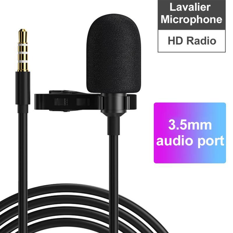1 Uds micrófono Clip-on móvil Lavalier micrófono Mic para Android Teléfono Celular Laptop Tablet grabación