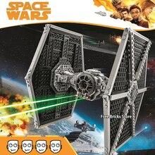 Bela 550PCS 10900 Fit Star Series Wars 60048 Imperial TIE Fighter Figures Educational DIY Building Blocks Toys For Children Gift