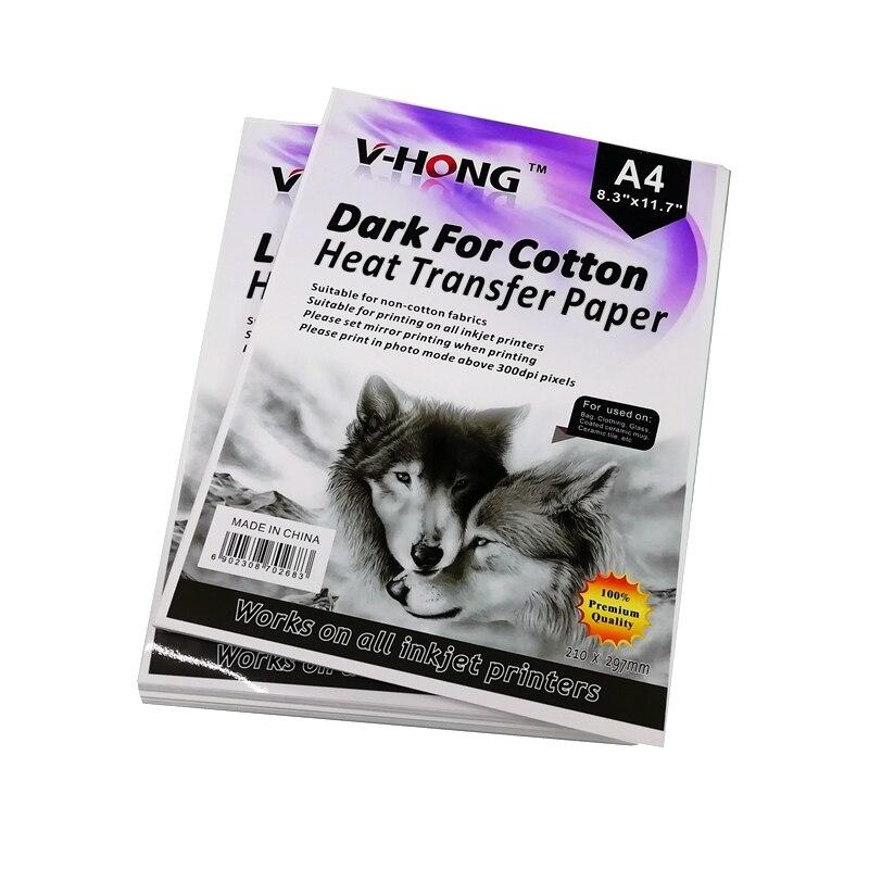 V-HONG бренд, сублимация, для активного отдыха, трансферная, размер 8,26x11,7 дюймов, США, хлопок, Темная футболка, Термотрансферная Бумага