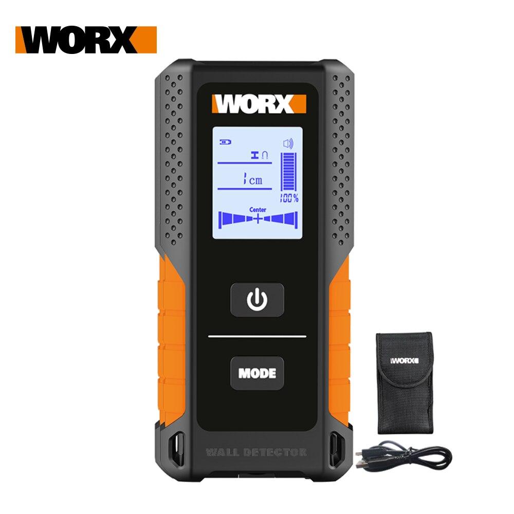 Worx-Detector de pernos WX085, Detector de pared multifuncional, Metal, madera y Cable...