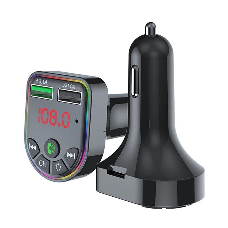 Автомобильный MP3-плеер F5, Bluetooth-приемник, создан атмосферсветильник свет, для автомобиля, MP3, для сигаресветильник, er F5