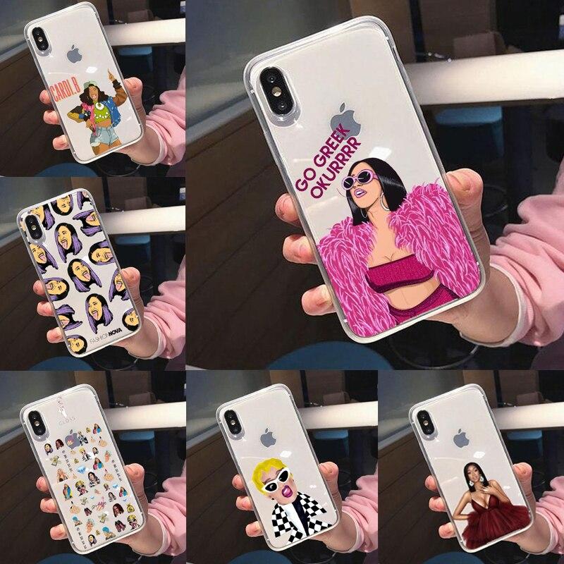 Amerikanischen Rap Sänger Cardi B Design FÜR silikon TPU Für iPhone X XS Max XR Fall Für iPhone 10 6S 6 7 8 Plus 5 5S SE 8 Plus 11Pro