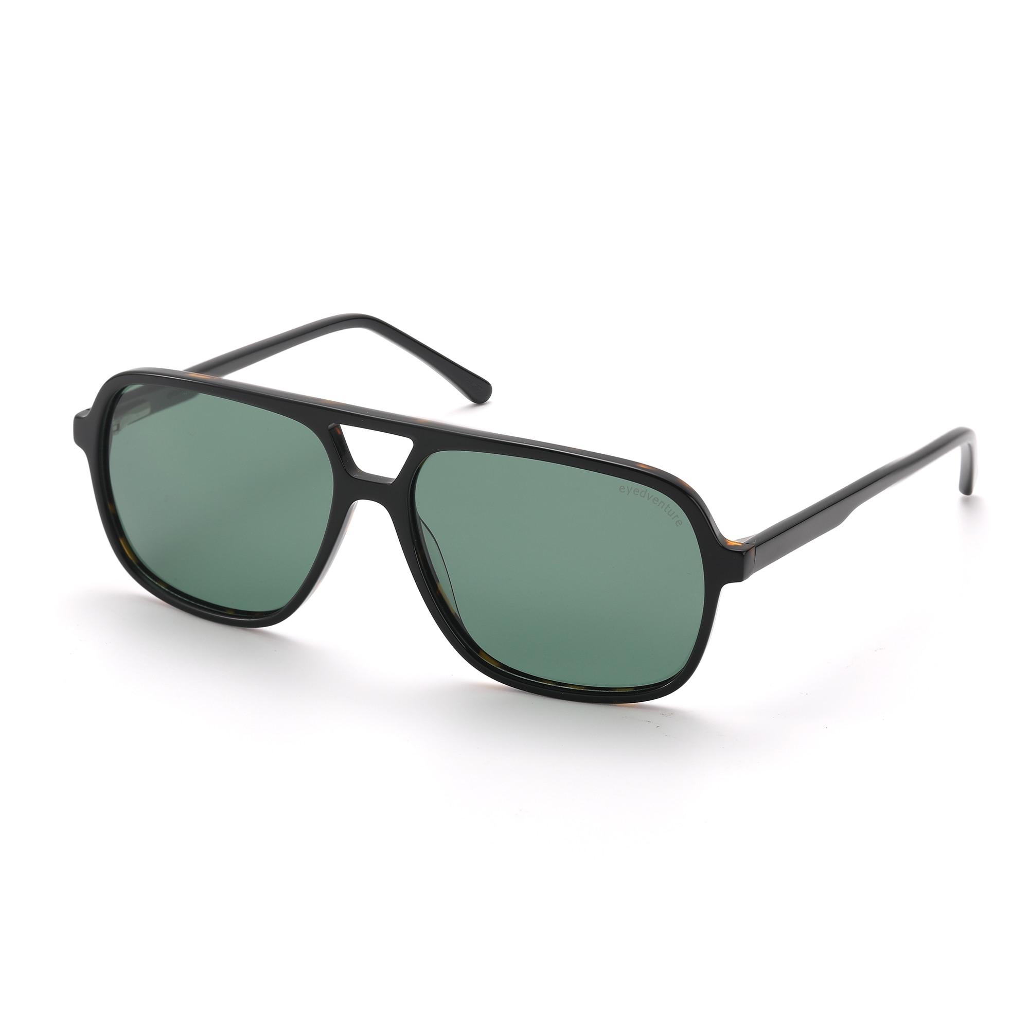 نظارات شمسية مربعة عتيقة للرجال من eyedadventure ، نظارات شمسية نسائية بفتحة واسعة Rx-Able من خلات مستقطبة UV400