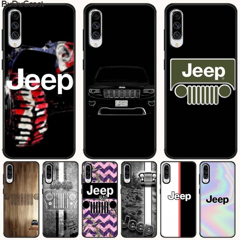 Manton Jeep cool car logo lujo diseño único teléfono cubierta para Samsung Galaxy A7 A8 A6 Plus A9 2018 A50 A70 A20 A30 A40