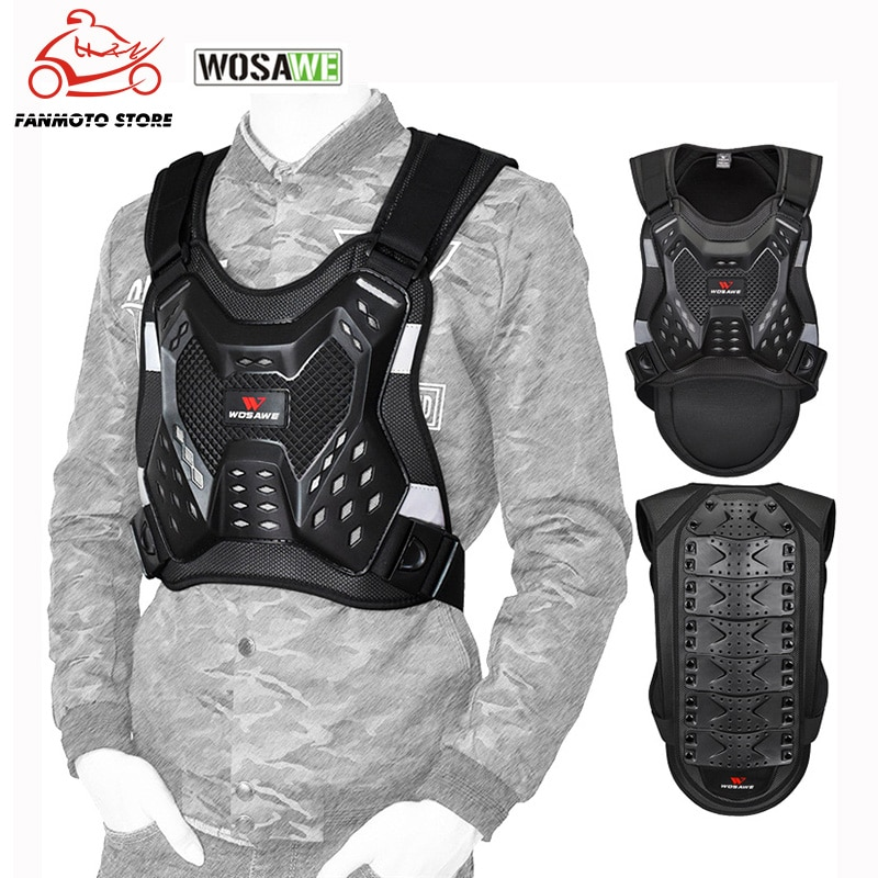 WOSAWE Motorcycle Armor Jacket Moto Racing Gear Elastic Armor Vest Motocross Riding Off Road Bike Chest Body Protection Clothing wosawe motorcycle jacket full body armor back chest protector motocross racing clothing riding protective gear moto protection