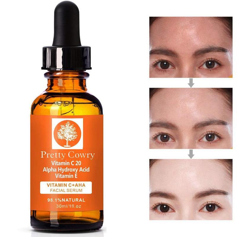 30ml Pretty Cowry Natural Face Serum Hyaluronic Acid Anti Wrinkle Vitamin C Skin Care