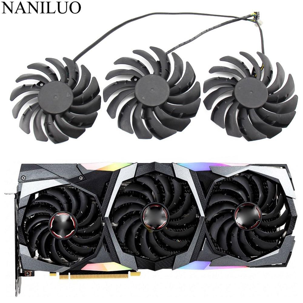 PLD09210B12HH PLD10010B12HH RTX 2080 Graphic Cooler fan for MSI Geforce RTX 2080 2080Ti 2070 Super Gaming X Trio Video Card Fan