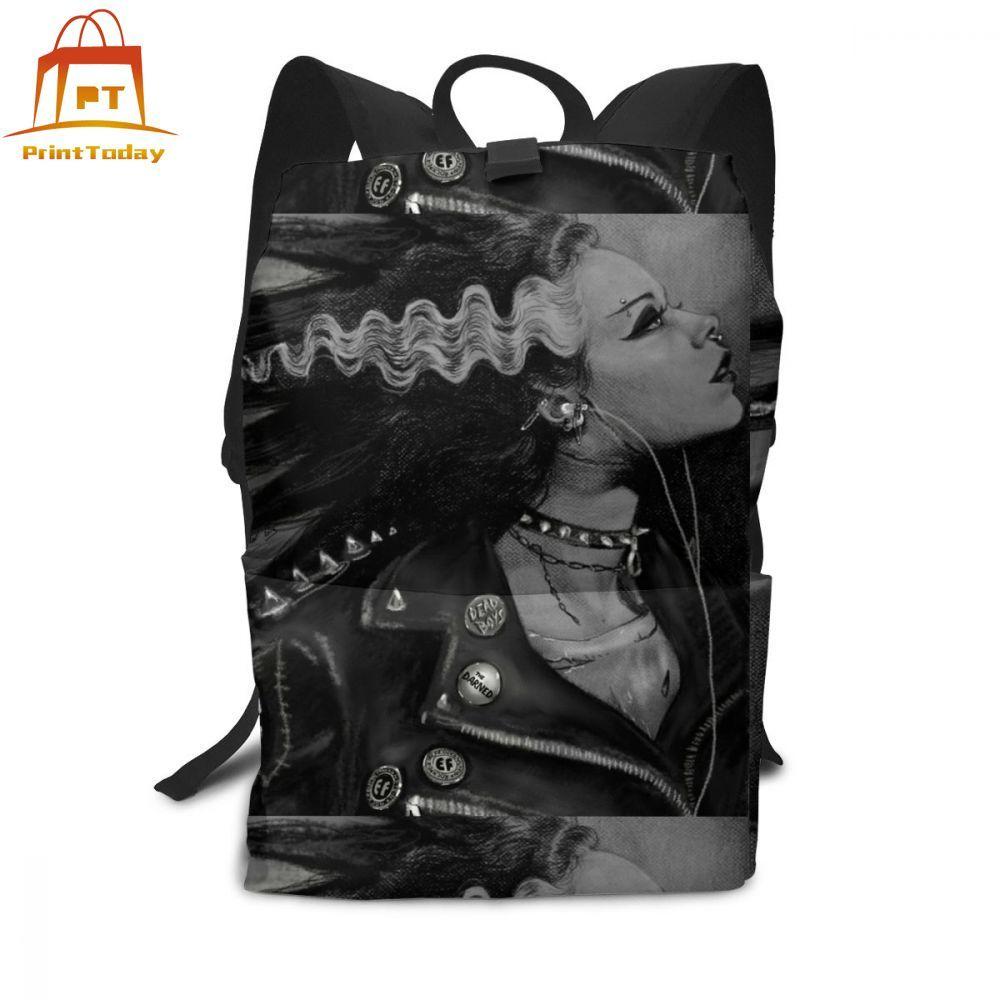 Mochila Punk, mochilas de la novia Punk Rock, bolso para adolescente, estampado multifuncional, bolsos de moda de alta calidad para hombre y mujer