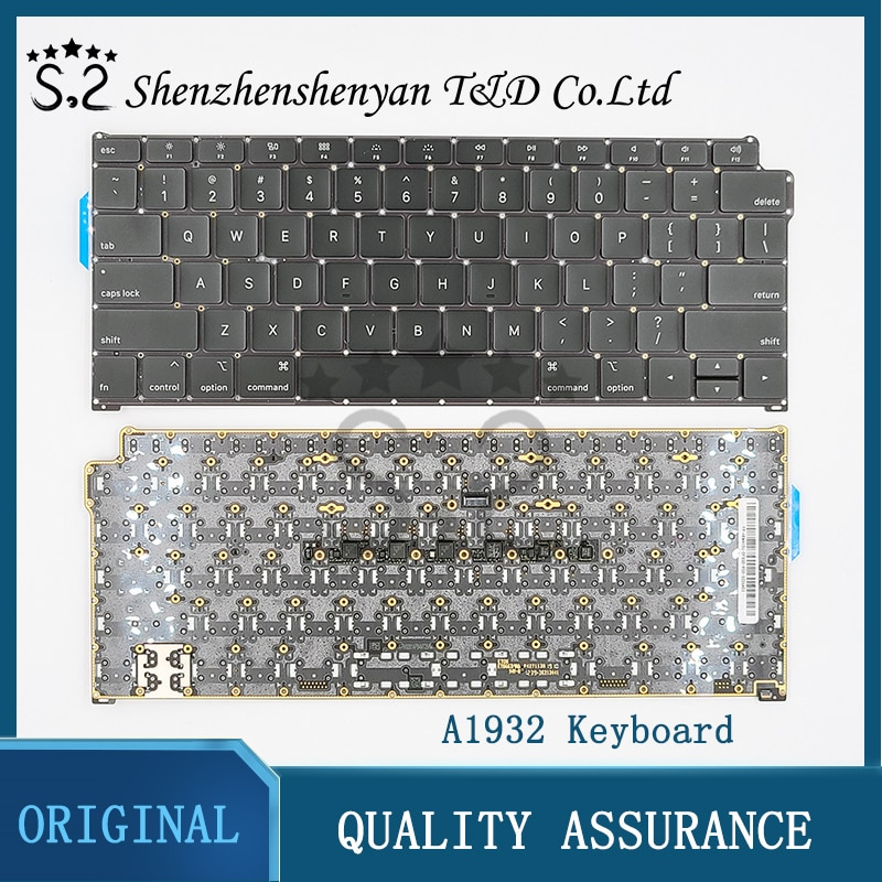 """Review Original New Laptop US UK Keyboard for Macbook Air 13.3 """"A1932 is Italy Keyboard Replacement 2018 MRE82"""