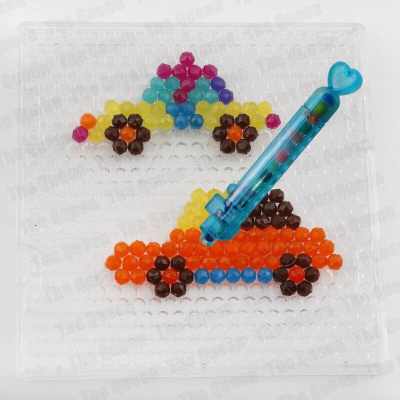 Juguetes de pluma con cuentas de agua, DIY adhesivo, rompecabezas mágico, rompecabezas, abalorios, herramientas educativas para niños