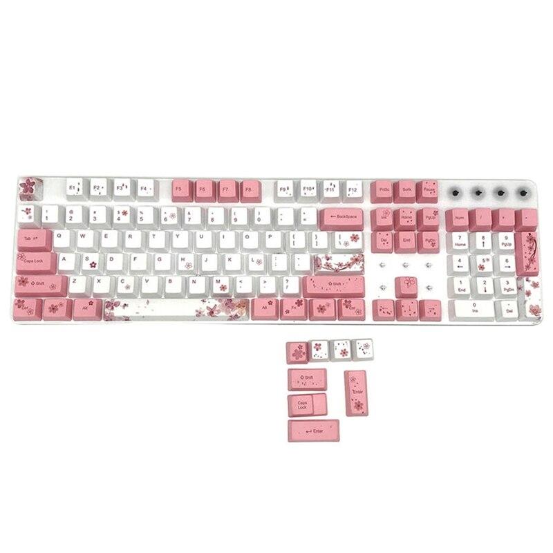 PBT خمسة الوجهين التسامي Keycap لوحة المفاتيح الميكانيكية Keycap 104-مفتاح ارتفاع الألعاب Keycap التسامي