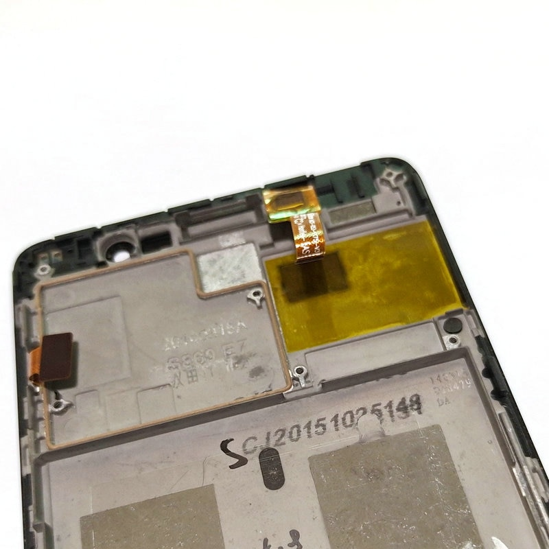 Used LCD Display and Touch Screen Digitizer Assembly+front Frame for Lenovo S860 Smart Cell Phone enlarge